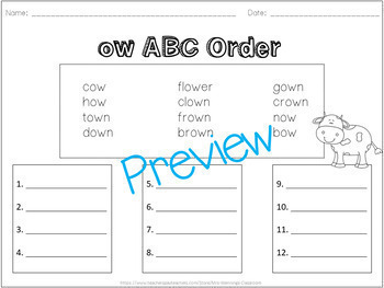 ABC Order Templates Pack!