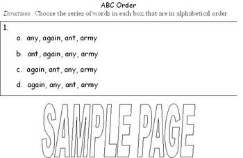 ABC Order Test Practice Page