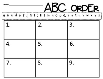 ABC Order {Thanksgiving}