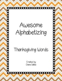 ABC Order- Thanksgiving Words