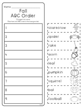 ABC Order Through the Year