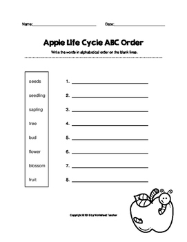 ABC Order Through the Year Bundle Pack