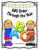 ABC Order--To the First Letter--Holiday Themes Through the Year!