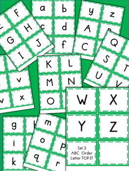ABC Order Top-It Game- Letters