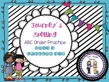 ABC Order Unit 1 First Grade Journeys