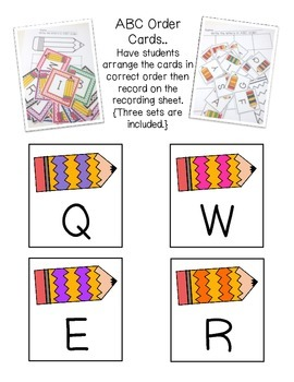 ABC Order Unit: Teaching & Reviewing ABC order