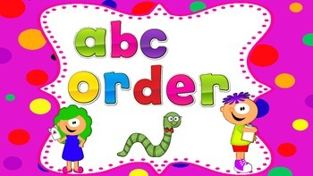 Alphabet Order:  Letter Recognition Center