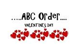 ABC Order Valentine's Theme