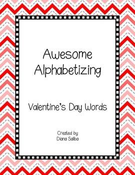 ABC Order- Valentine's Day Words