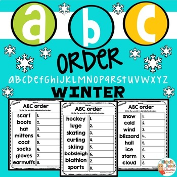 ABC Order WINTER - Alphabetical order