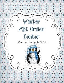 ABC Order-Winter Theme