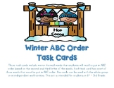ABC Order Winter Themed Task Cards