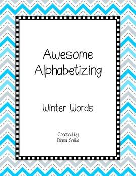 ABC Order- Winter Words
