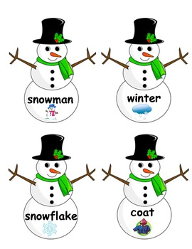 ABC Order Winter Words with Cards!