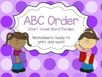ABC Order Word Families