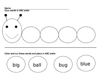 ABC Order - Words that begin with same letter
