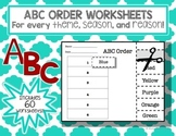 ABC Order Worksheet Pack
