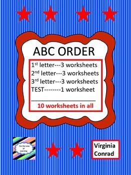ABC Order Worksheet Set
