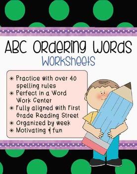 **Word Work Center** ABC Order Worksheet Set {Reading Program Aligned!!!}