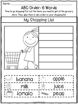 ABC Order Worksheets- Alphabetical Order Practice