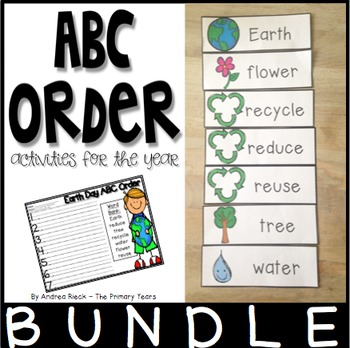 ABC Order Activities {Year Long Bundle}