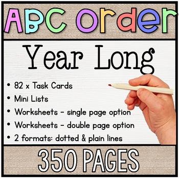 ABC Order Year Long