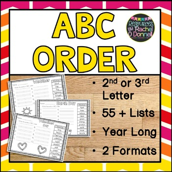ABC Order Year Long - 2nd Letter
