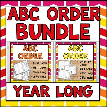 ABC Order Year Long BUNDLE