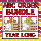 ABC Order Year Long BUNDLE