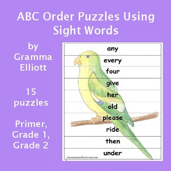 ABC Order Puzzles and Sight Word Practice - Spring and Summer Theme