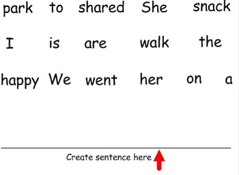 ABC Order and sentence parts