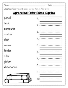 ABC Order by First Letter Only