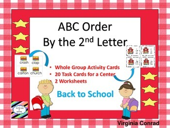 ABC Order by the 2nd Letter--Back to School Theme
