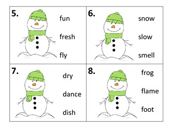 ABC Order by the Second Letter--Center and Worksheets--Winter Theme