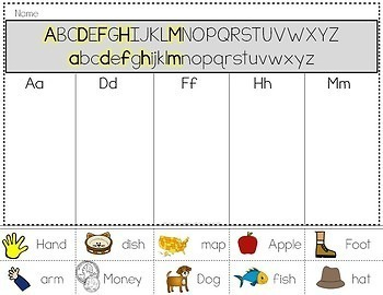 ABC Order for Beginners: Alphabetical Order by First Letter