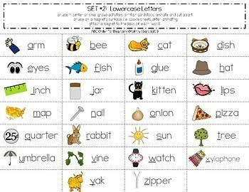 ABC Order for Beginners Alphabetical Order by First Letter