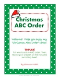 ABC Order for Christmas