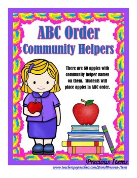 ABC Order for Community Helpers