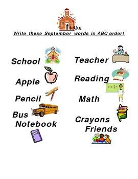 ABC Order for September
