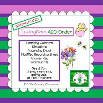 ABC Order for Springtime