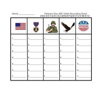 ABC Order for Veterans Day