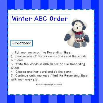 ABC Order for Winter
