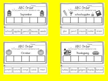 ABC Order for the whole year