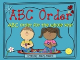Behavior ABC Order for the whole year