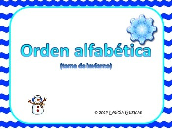 ABC Order in Spanish