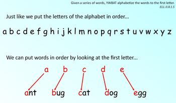 ABC Order-putting words in order to the first and/or second letter