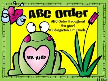 ABC Order throughout the year! {Kindergarten / First Grade}