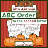 ABC Order to the 2nd Letter - Fall into Autumn Theme CCSS Aligned
