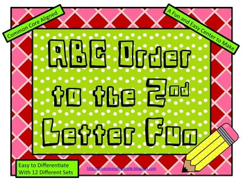 ABC Order to the 2nd Letter Fun (Common Core Aligned)