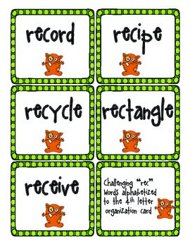 ABC Order to the 3rd & 4th Letter, (an alphabetizing sorting activity)